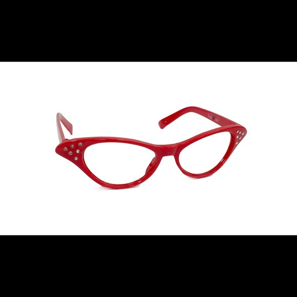 5f33a0df00a New 50 s Women s Red Cat Eye Rhinestone Glasses